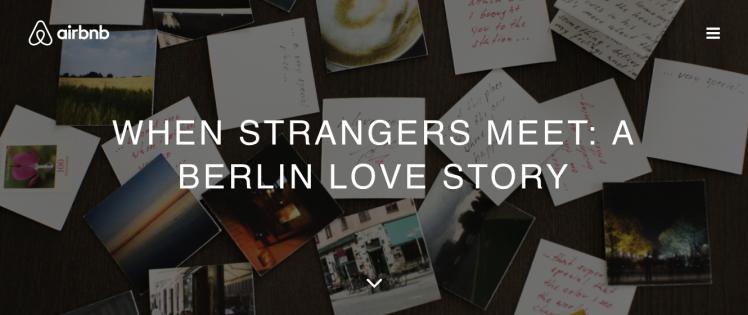 Airbnb when strangers meet